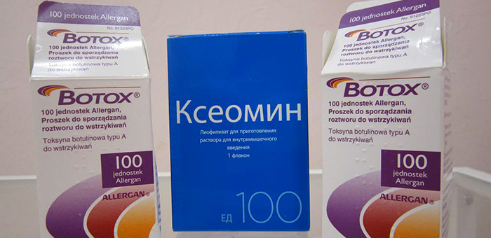 Preparativi Botox e Dysport