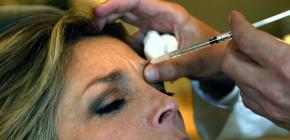 Injections de Botox dans le front