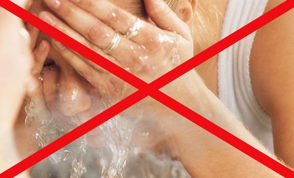 Interdiction de laver à l'eau chaude