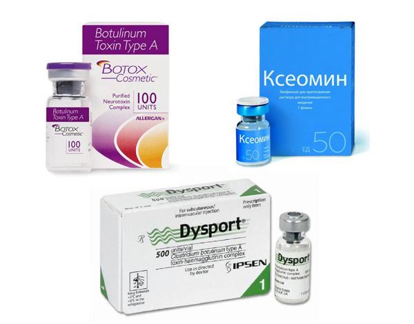 Botox, Xeomin, Dysport - analogues de Botulax