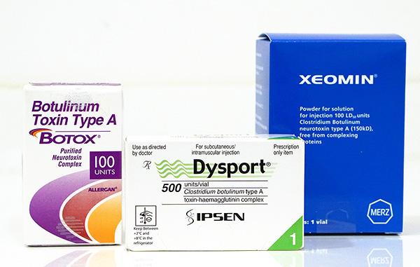 Dysport, Xeomin, Botox et alcool
