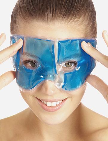 Masque de refroidissement avant les injections