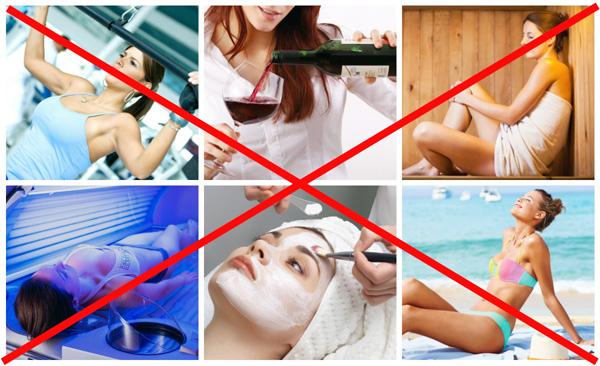 Limites après les injections de Botox