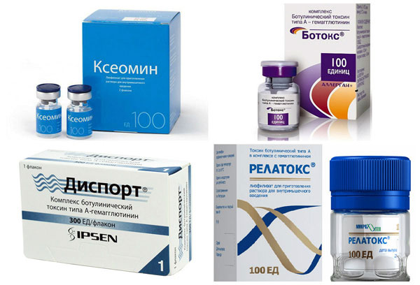 Xeomin, Botox, Dysport et Relatox contiennent de la toxine botulique