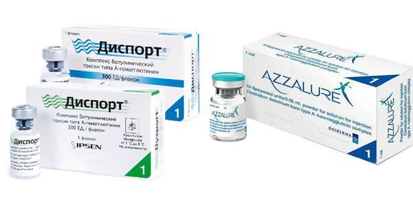 Dysport et Azzalur - Analogues de Botox